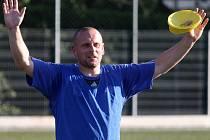 Úvodní trénink fotbalistů třetiligové Jiskry Domažlice v letní přípravě.