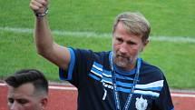 Trenér Jiskry Domažlice Pavel Vaigl.
