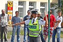 Policisté při soutěži řídili křižovatku v Horšovském Týně