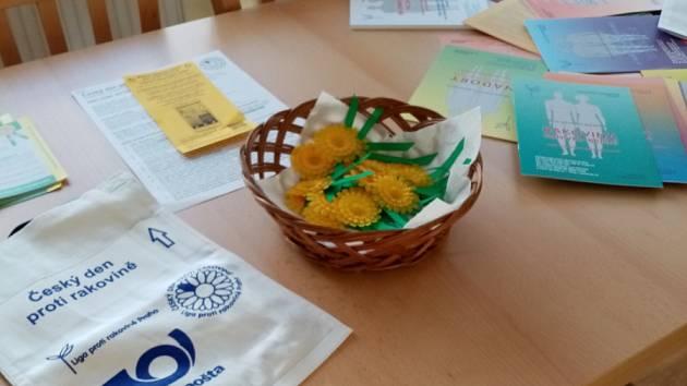 Sbírka Ligy proti rakovině v Libkově.
