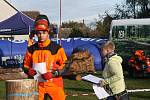 Profesionální dřevorubci soutěžili v pěti disciplínách.