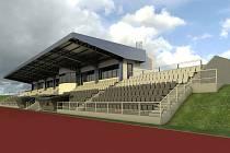 Vizualizace nové východní tribuny.