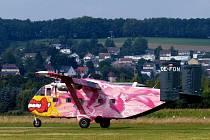 Námětem tématického cvičení je letecká havárie letadla vysazujícího parašutisty - Skyvan SC7. Ilustrační foto.