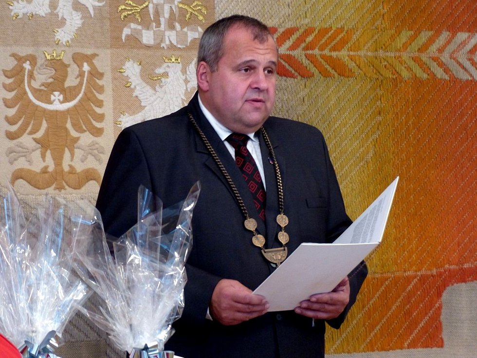 Z oceňování dárců v obřadní síni bělské radnice.