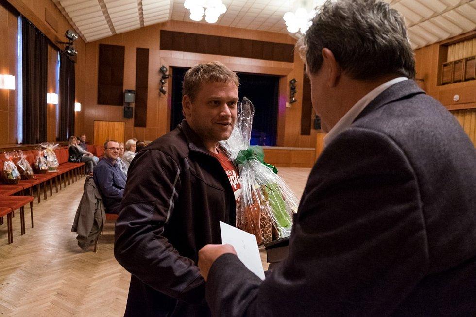 Ve Staňkově ocenili dárce krve. na snímku Jan Uřídil.