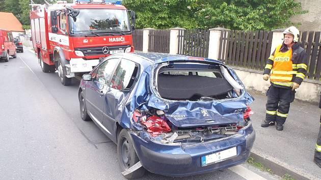 Nehoda v Domažlicích.