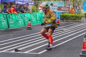 Pavel Kouřík 2. závodní den na Světových hrách policistů a hasičů v Číně.
