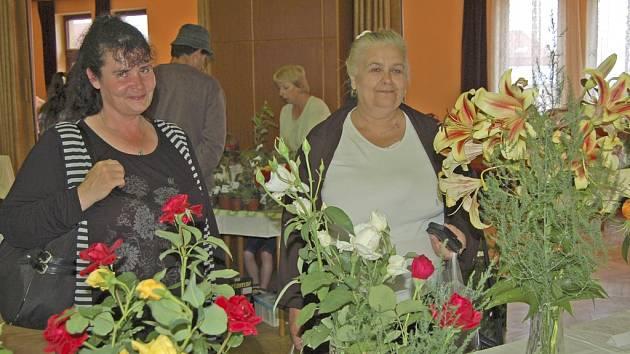 Výstava květin v Lidovém domě ve Staňkově.