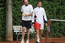 DAVIS CUP I V KLENČÍ. Také na kurtech v Klenčí pod Čerchovem se o víkendu hrálo 2. kolo Davis Cupu 2012.