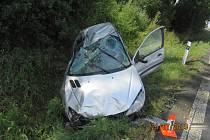 Nehoda u Horšova. Hmotné škody vznikly za 37 tisíc korun.