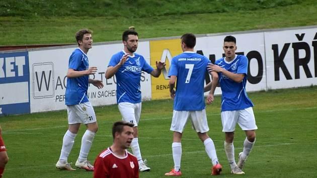 TJ Jiskra Domažlice B (modří) - TJ Sokol Radnice 4:0 (1:0).