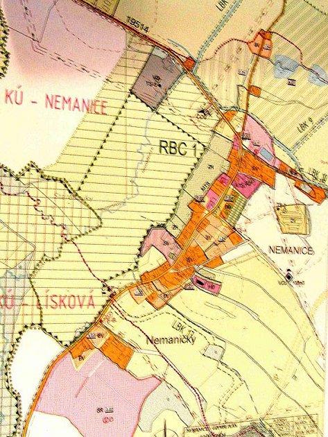 Tento územní plán Nemanic bude muset doznat změn.
