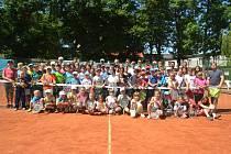 O Týden s tenisem je každoročně velký zájem nejen domažlických dětí.