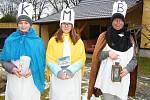 Štichovští koledníci - K+B+M = Tomáš Weis, Adéla Weisová a Markéta Bauerová.