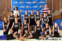 Basketbalový tým ZŠ Komenského 17 Domažlice.