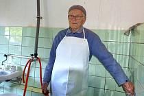 VÝČEPNÍ MOŠTU 92LETÝ JAROSLAV KUTHAN.
