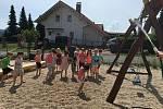 Nová zahrada pro děti v Mateřské škole v Klenčí pod Čerchovem.