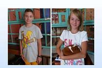 ELIŠKA PLUHAŘOVÁ A TADEÁŠ KROBOT jedou se třemi dalšími mladými chovateli z Kolovče na celostátní olympiádu MCH.