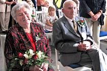 Z diamantové svatby manželů Kohoutových ze Zíchova.