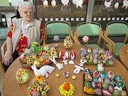 MARIE HANÁČKOVÁ vystavila své rukodělné výrobky