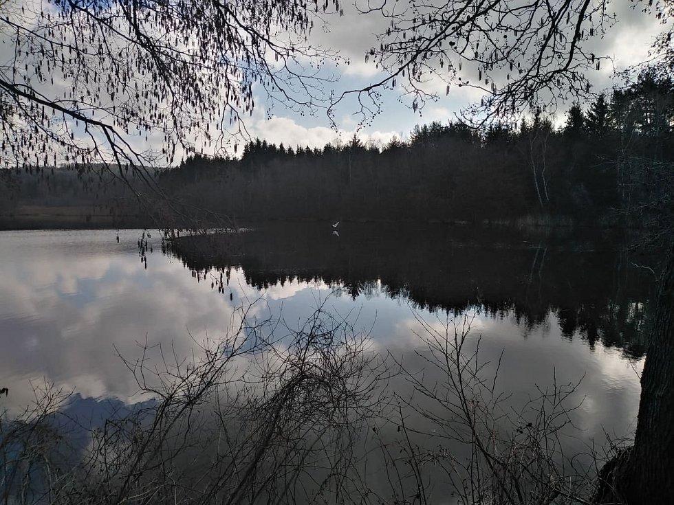 V Pile jsou dva rybníky, mezi nimiž se dá projít.