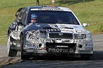 Pavel Valoušek ve Škodě Fabia WRC.