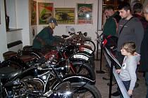 Výstava Historie motorismu na Domažlicku.