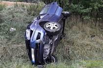 Třicetiletá šoférka havarovala v pondělí u Vidic. Na místo směřovaly všechny složky integrovaného záchranného systému.