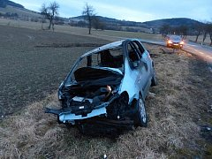 Vyhořelý automobil. Ilustrační foto