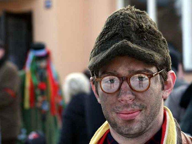 Vítězné foto soutěže. Ladislav Vogeltanz ml. z Chodova snímek pořídil o masopustu v Postřekově.