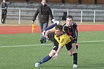 Z přípravného utkání fotbalistů FC Dynamo H. Týn s Meclovem.