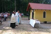 Svěcení kapličky na Pleši.