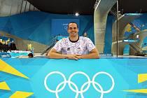 Plavec Martin Verner na olympiádě.