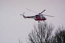 Ilustrační foto. Vrtulník zdravotnických záchranářů.