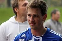 Fotbalista Petr Jendruščák v dresu Jiskry Domažlice.