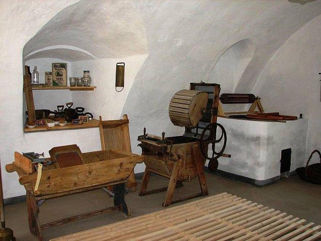 Prádelna v horšovskotýnském hradu a zámku.