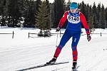 Jana Brantlová na trati Šumavského skimaratonu prožila perné chvilky, když první kilometry běžela o jedné holi.
