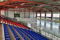 Zimní stadion v Domažlicích.