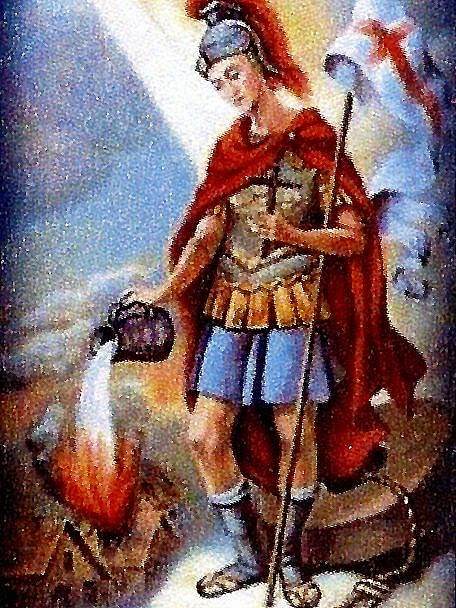 Svatý Florián, patron hasičů.