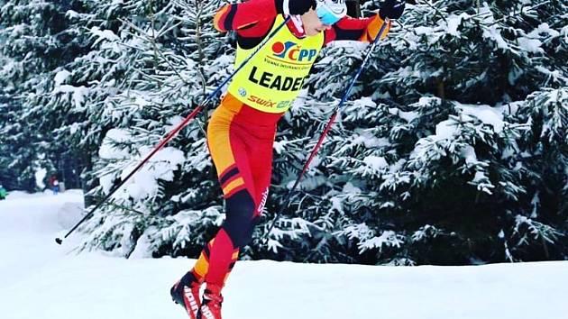 LUDĚK ŠELLER  zvítězil v nedělním závodě klasickou technikou na Šumavském skimaratonu.