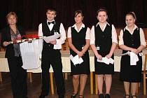 Z regionální soutěže ve stolování. Mariánskolázenští vítězové.