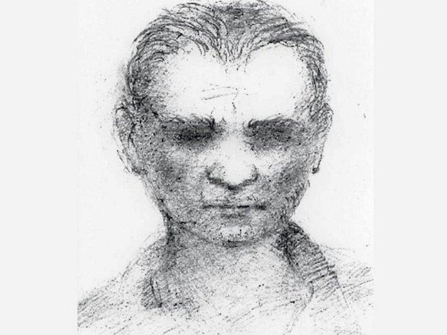 Kreslený portrét pachatele zroku 2006.