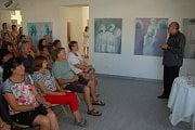 Ze vzpomínkového pořadu na Vladimíra Komárka v domažlické Galerii bratří Špillarů.