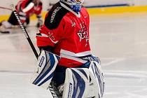 Brankář AHC Devils Domažlice Hrdlička.