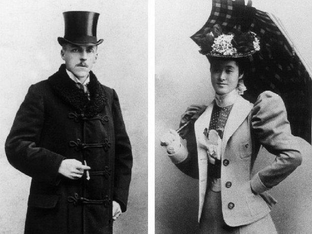 Mitsuko Aojama Coudenhove Kalergi a její manžel hrabě Heinricha Coudenhove – Kalergi. Historická fota poběžovických hrabat zveřejnila ve své knize Mitsuko Vlasty Čihákové Noshiro.