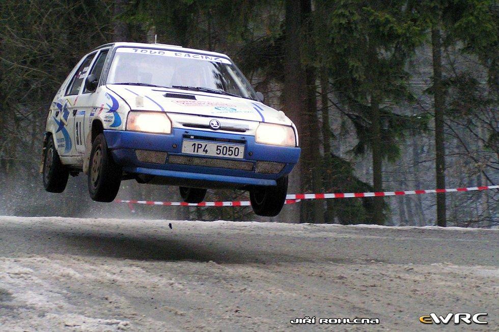 Petr Dufek se Slávou Ducháčkem na Rallye Úslava 2003.