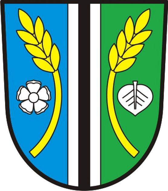 Schválený znak obce Mezholezy.