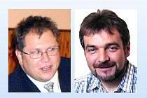 Kdo z koho? Kdo bude poběžovickým starostou - Hynek Říha (vlevo) nebo Jindřich Kohout?