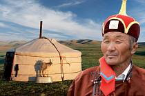 DOMÁCKÉ JURTY I DOMÁCÍ DOBYTEK zachytil při své cestě po Mongolsku cestovatel Loew.