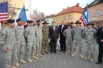 Oslavy konce II. světové války v Bělé nad Radbuzou.